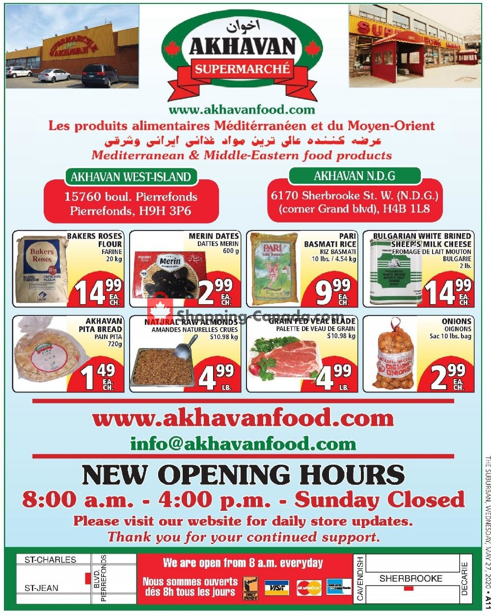 Flyer Akhavan Food Supermarche Canada - from Wednesday June 3, 2020 to Tuesday June 9, 2020