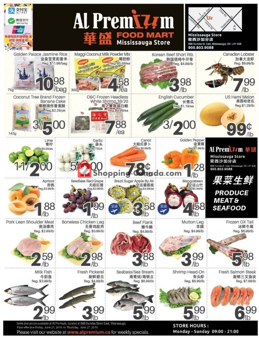 Flyer Al Premium Food Mart Canada - from Friday June 21, 2019 to Thursday June 27, 2019