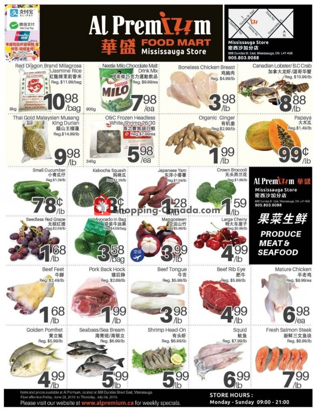 Flyer Al Premium Food Mart Canada - from Friday June 28, 2019 to Thursday July 4, 2019