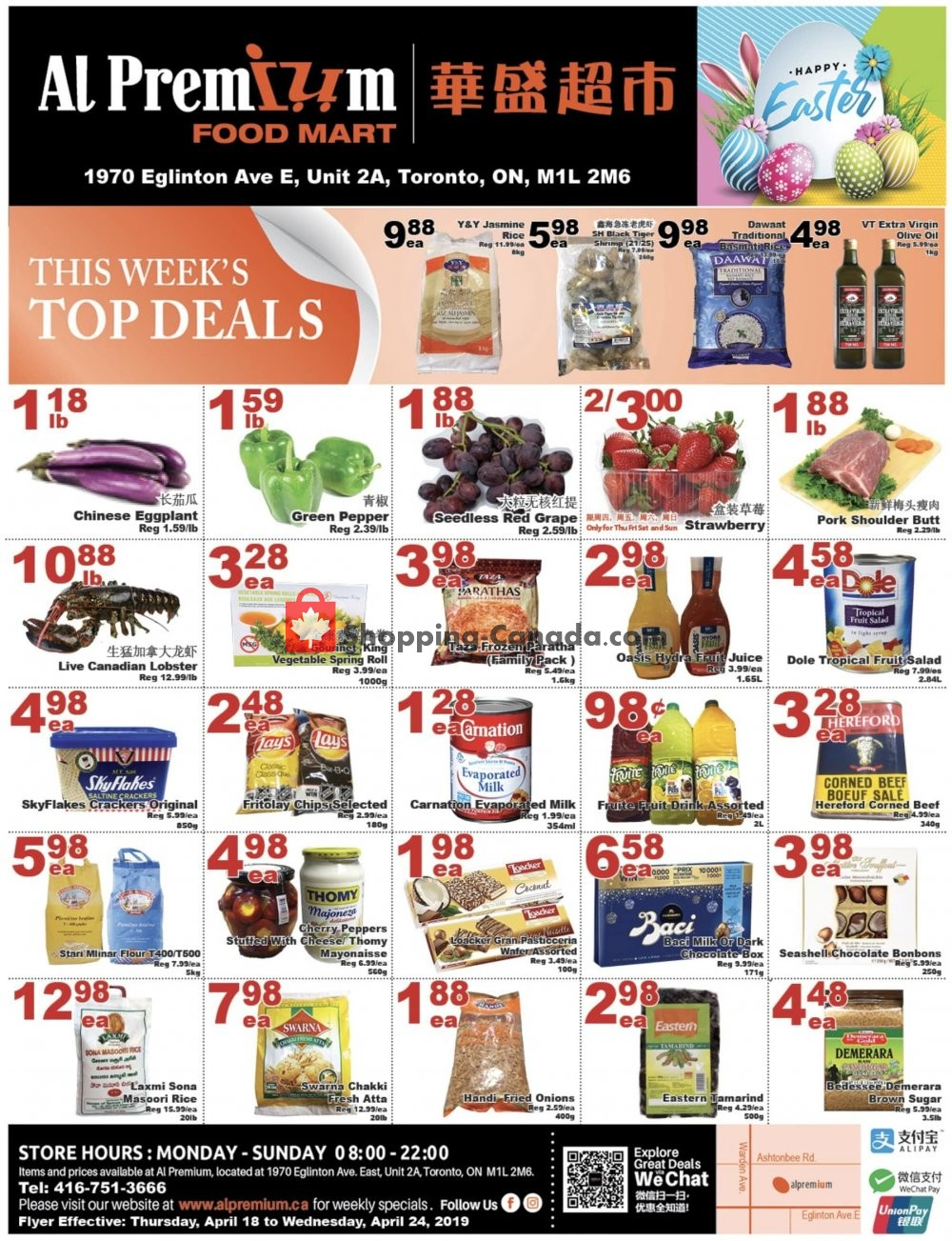 Flyer Al Premium Food Mart Canada - from Thursday April 18, 2019 to Wednesday April 24, 2019