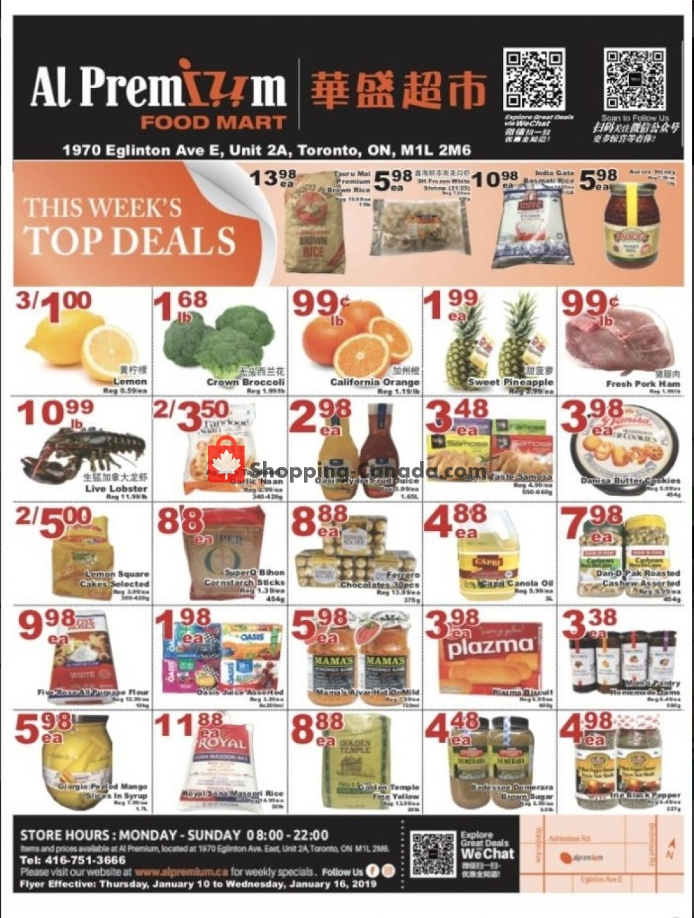 Flyer Al Premium Food Mart Canada - from Thursday January 10, 2019 to Wednesday January 16, 2019