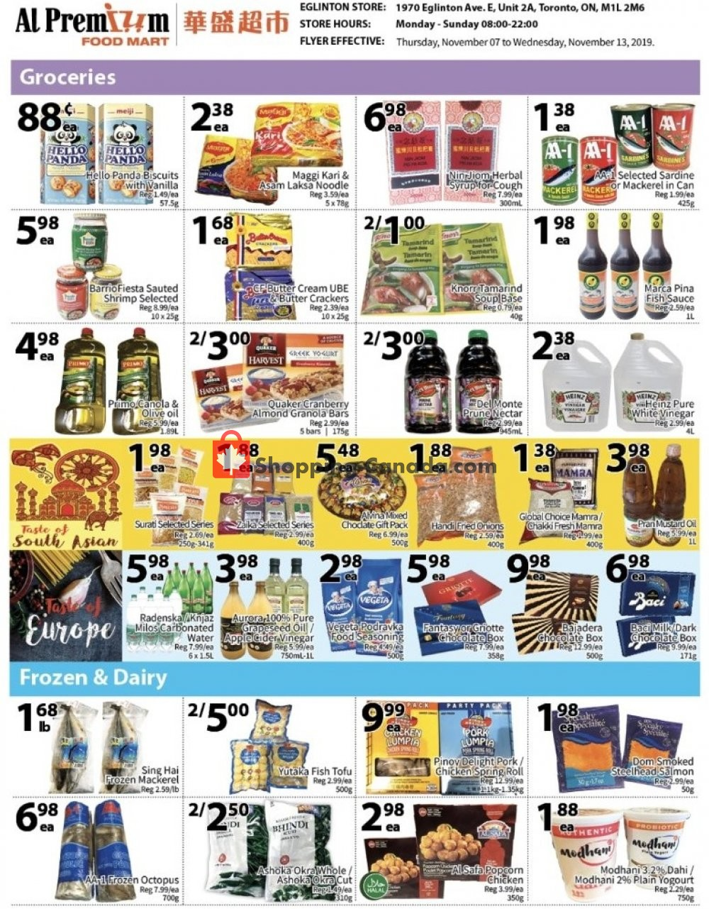 Flyer Al Premium Food Mart Canada - from Thursday November 7, 2019 to Wednesday November 13, 2019