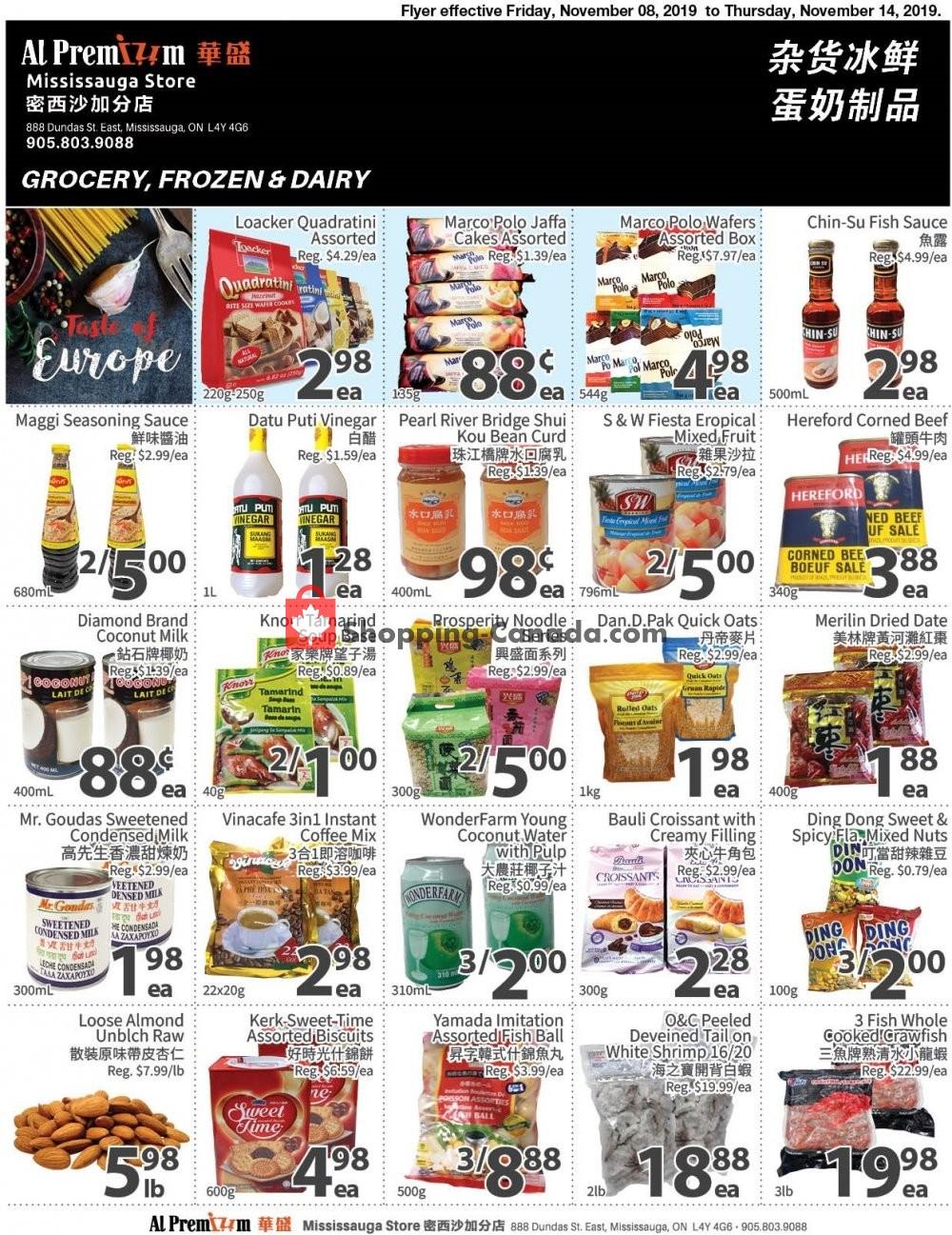 Flyer Al Premium Food Mart Canada - from Friday November 8, 2019 to Thursday November 14, 2019