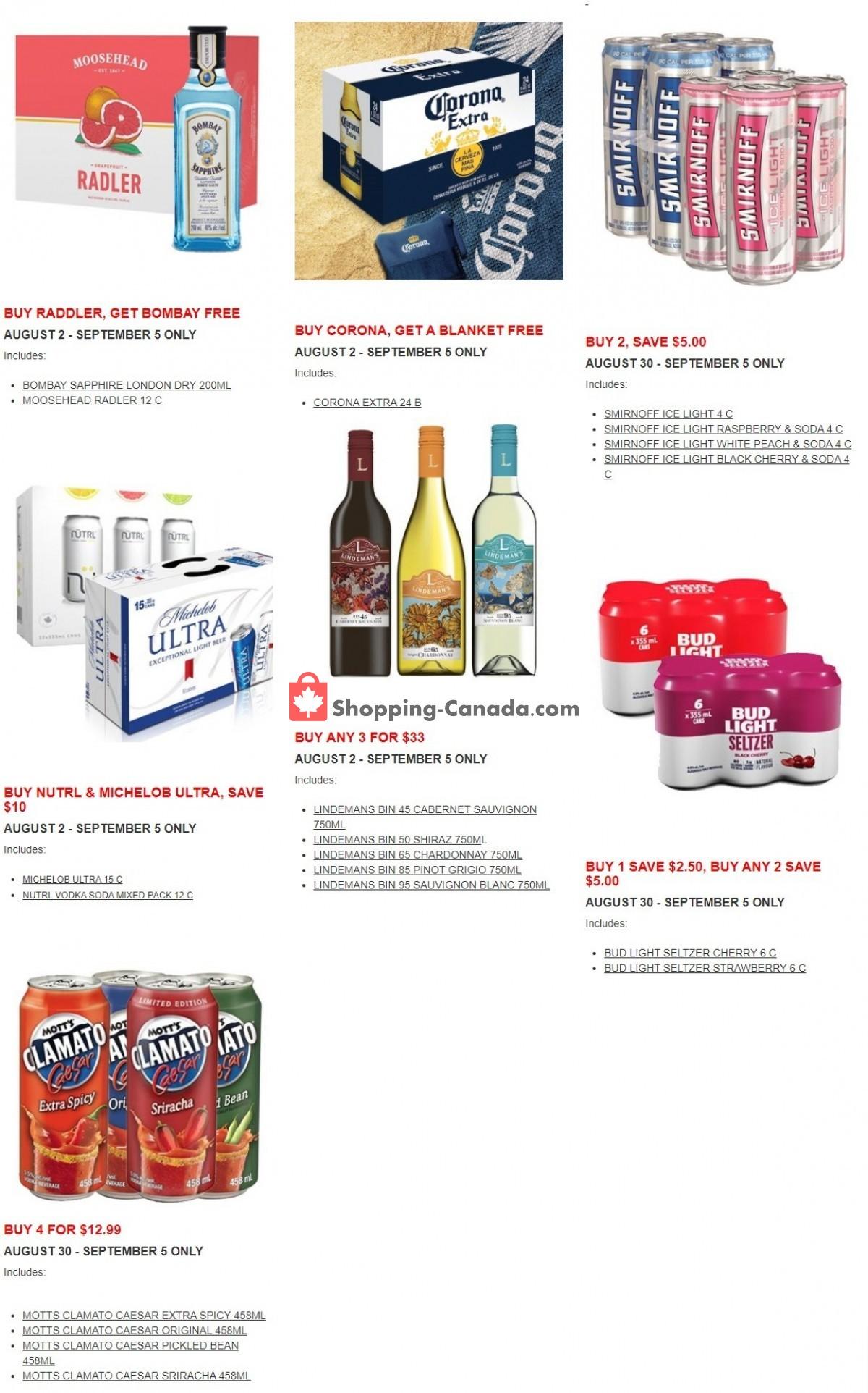 Flyer Alcool NB Liquor Canada - from Monday September 6, 2021 to Sunday September 12, 2021