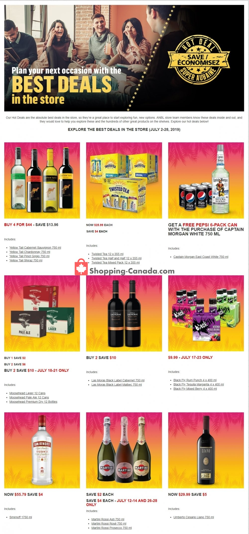 Flyer Alcool NB Liquor Canada - from Tuesday July 2, 2019 to Sunday July 28, 2019