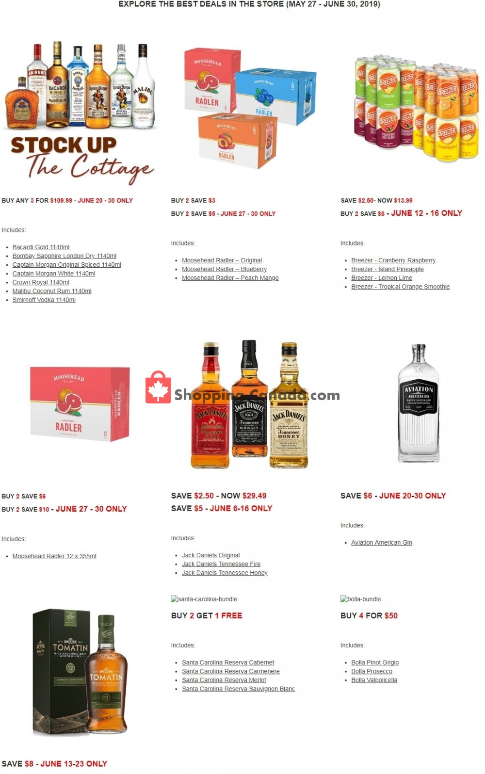 Flyer Alcool NB Liquor Canada - from Monday May 27, 2019 to Sunday June 30, 2019