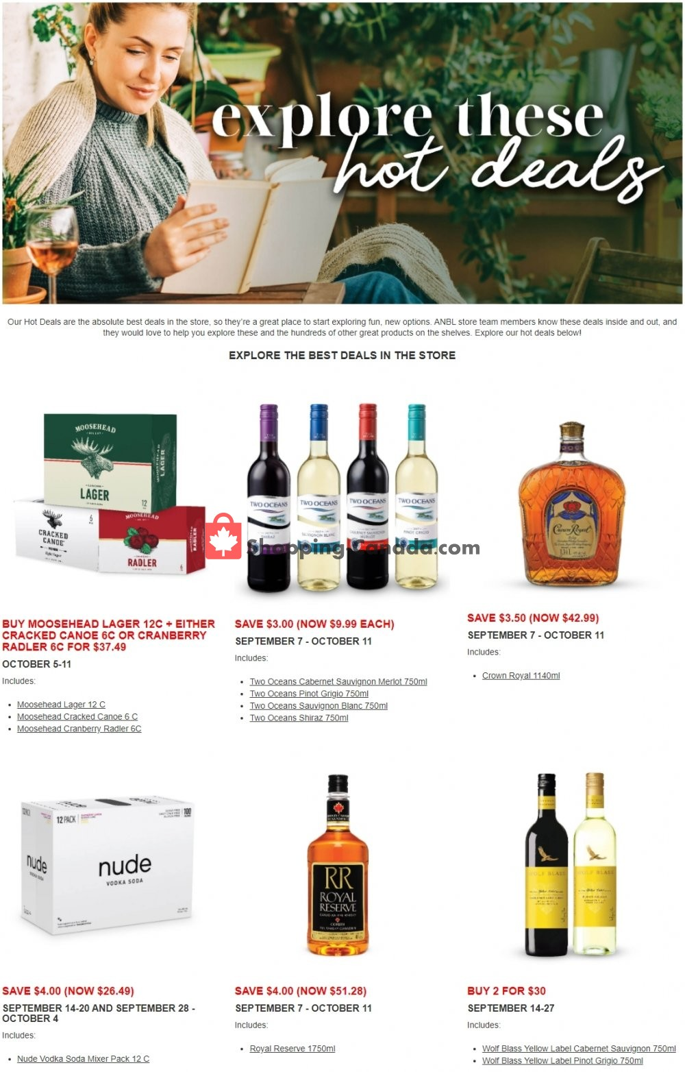 Flyer Alcool NB Liquor Canada - from Monday September 14, 2020 to Sunday October 11, 2020