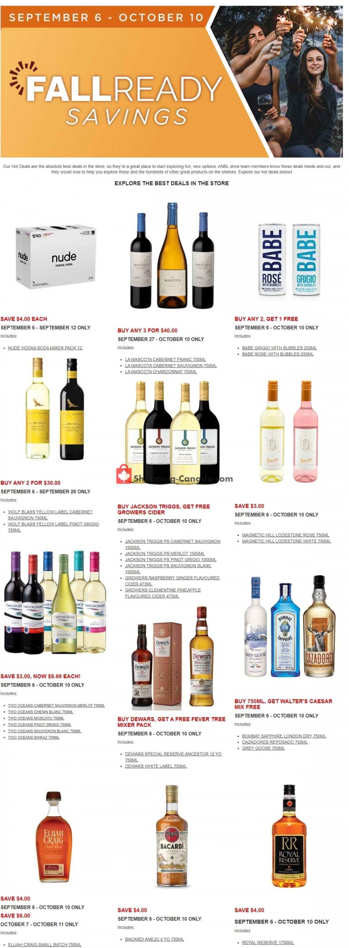 Flyer Alcool NB Liquor Canada - from Monday September 6, 2021 to Sunday October 10, 2021