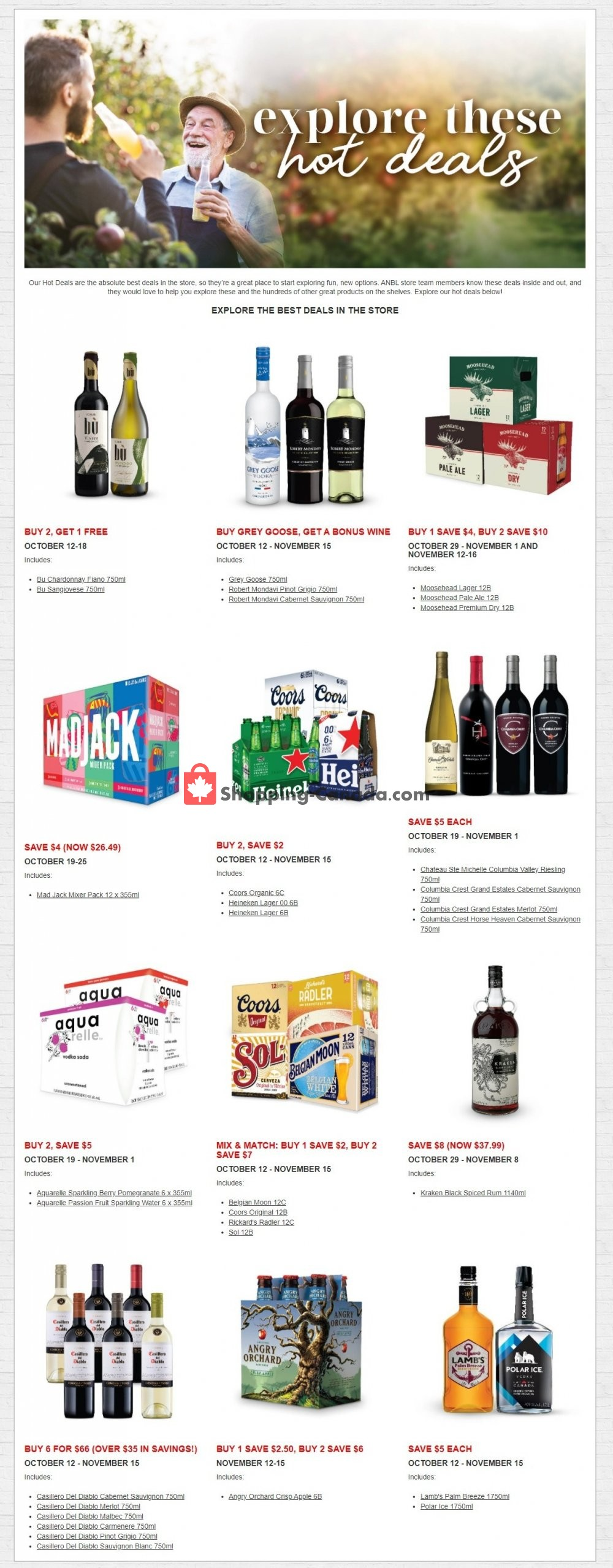 Flyer Alcool NB Liquor Canada - from Monday October 12, 2020 to Sunday October 18, 2020