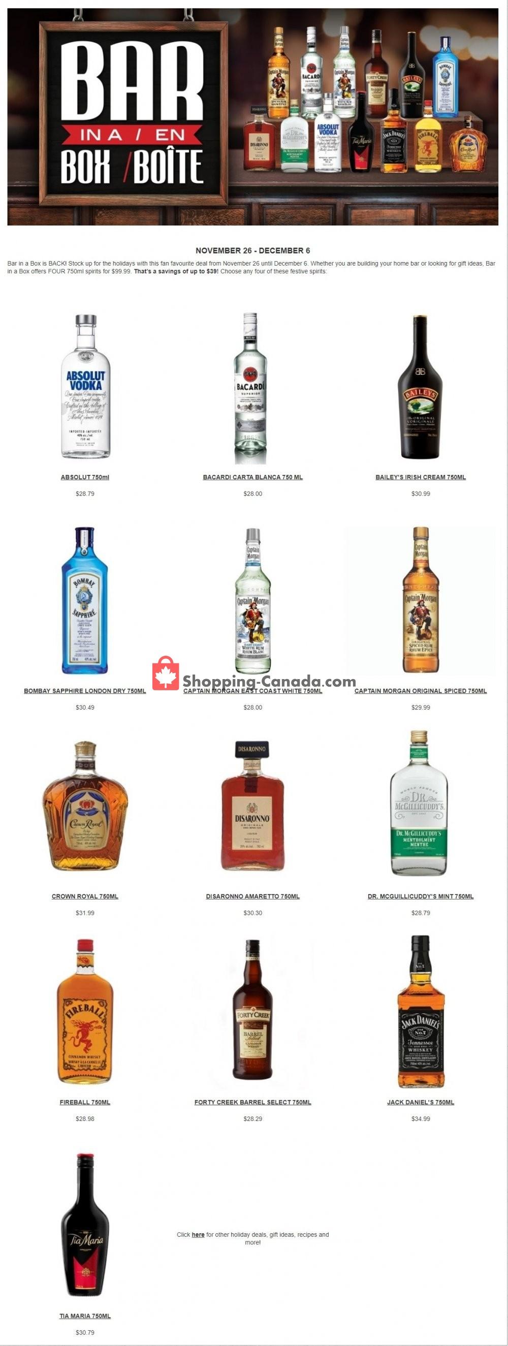 Flyer Alcool NB Liquor Canada - from Thursday November 26, 2020 to Sunday December 6, 2020
