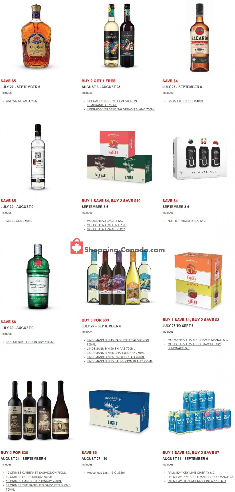 Flyer Alcool NB Liquor Canada - from Monday July 27, 2020 to Sunday September 6, 2020
