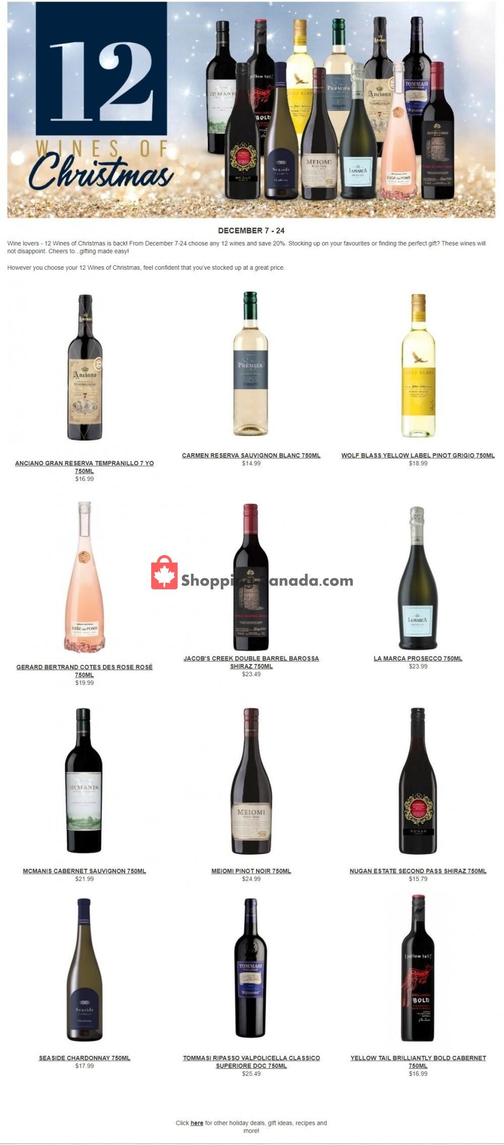 Flyer Alcool NB Liquor Canada - from Monday December 7, 2020 to Thursday December 24, 2020