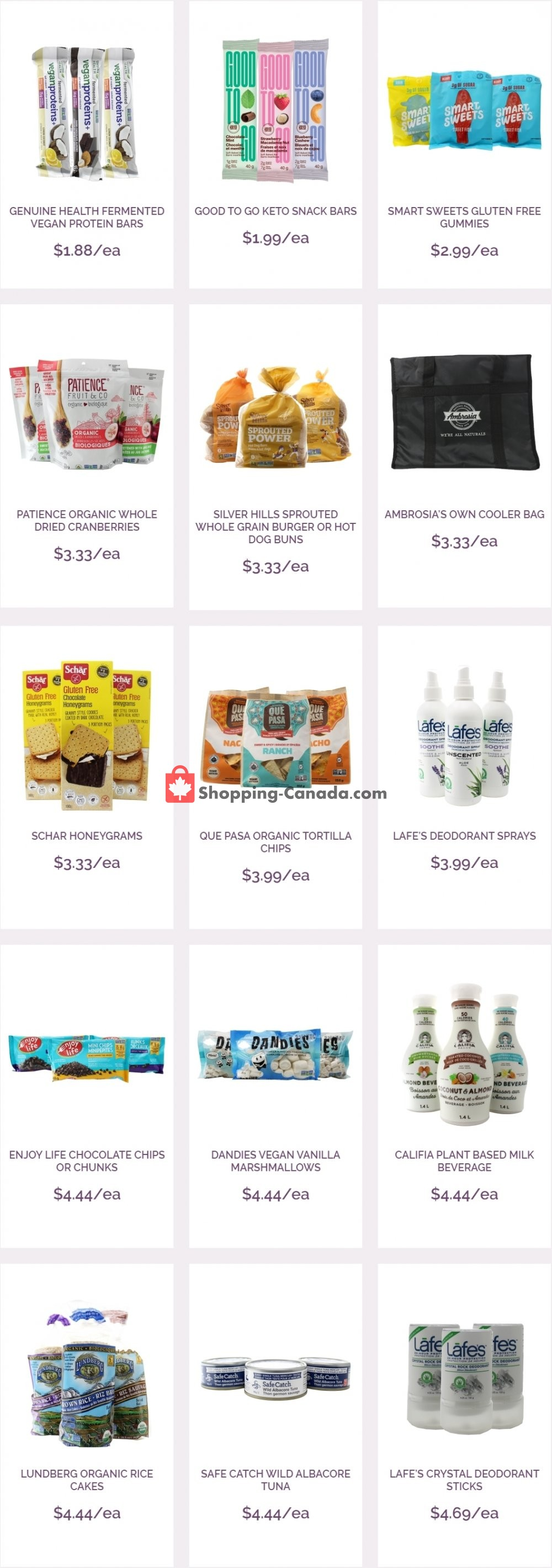 Flyer Ambrosia Natural Foods Canada - from Wednesday June 3, 2020 to Tuesday June 9, 2020