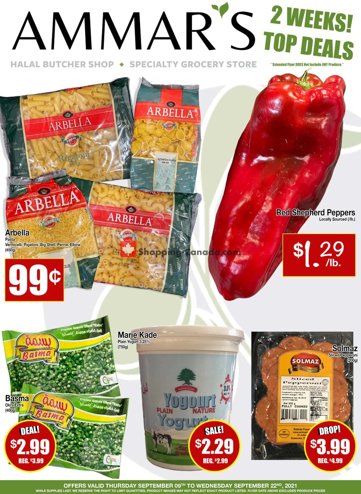 Flyer Ammar's Halal Meats Canada - from Thursday September 9, 2021 to Wednesday September 22, 2021