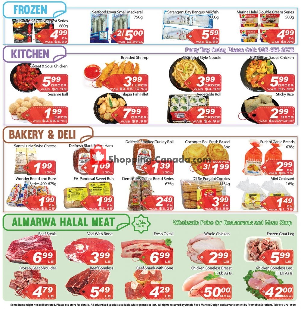 Flyer Ample Food Market Canada - from Friday July 12, 2019 to Thursday July 18, 2019