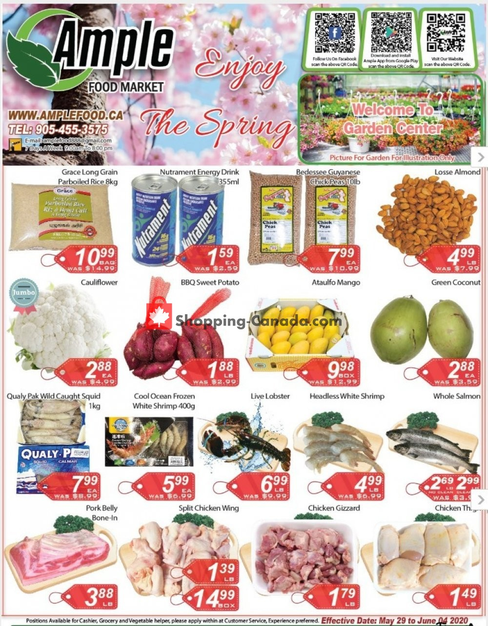 Flyer Ample Food Market Canada - from Friday May 29, 2020 to Thursday June 4, 2020