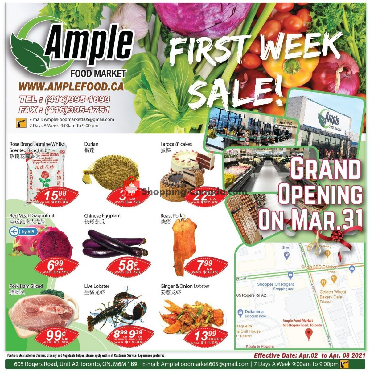 Flyer Ample Food Market Canada - from Friday April 2, 2021 to Thursday April 8, 2021