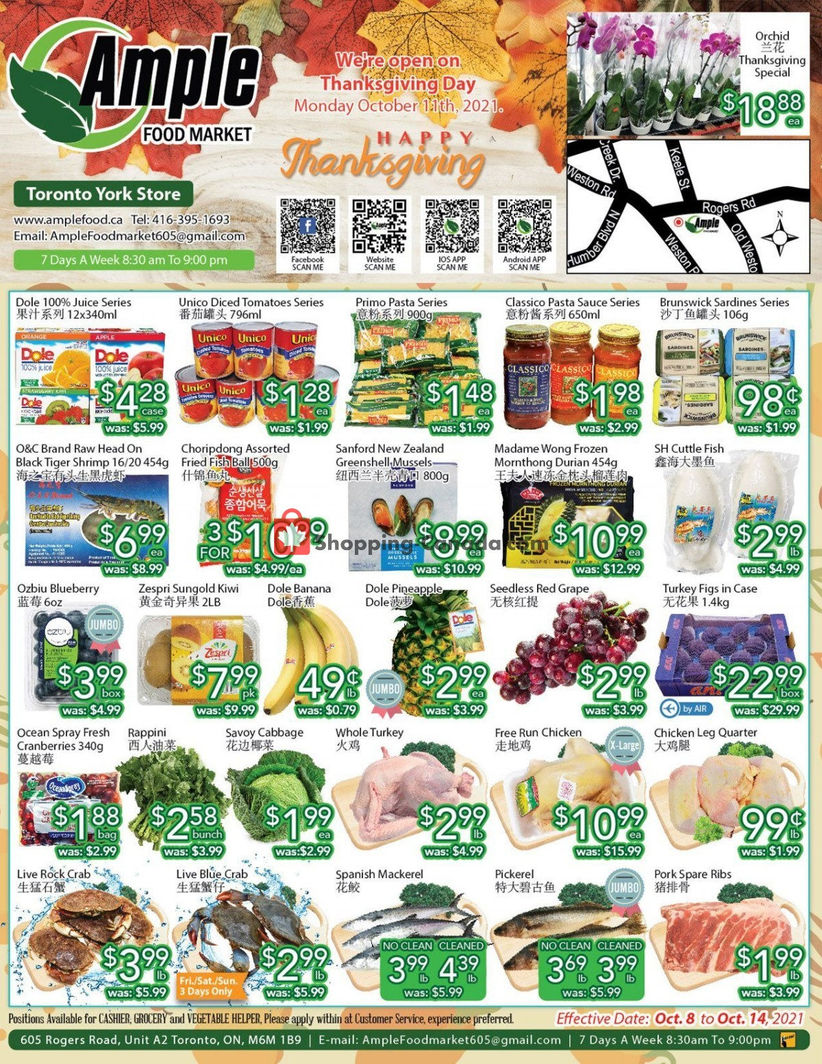 Flyer Ample Food Market Canada - from Friday October 8, 2021 to Thursday October 14, 2021