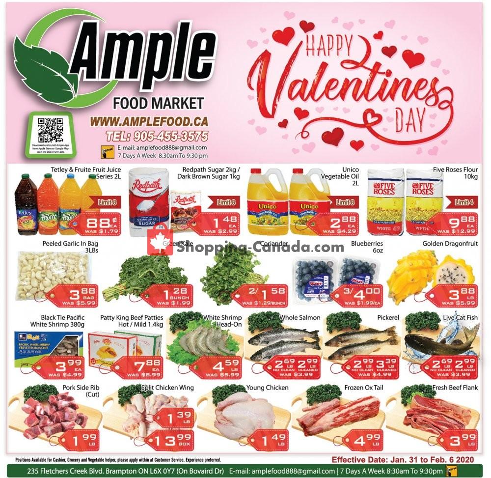 Flyer Ample Food Market Canada - from Friday January 31, 2020 to Thursday February 6, 2020