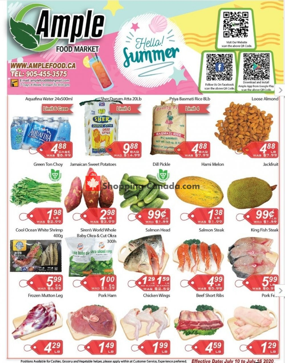 Flyer Ample Food Market Canada - from Friday July 10, 2020 to Thursday July 16, 2020