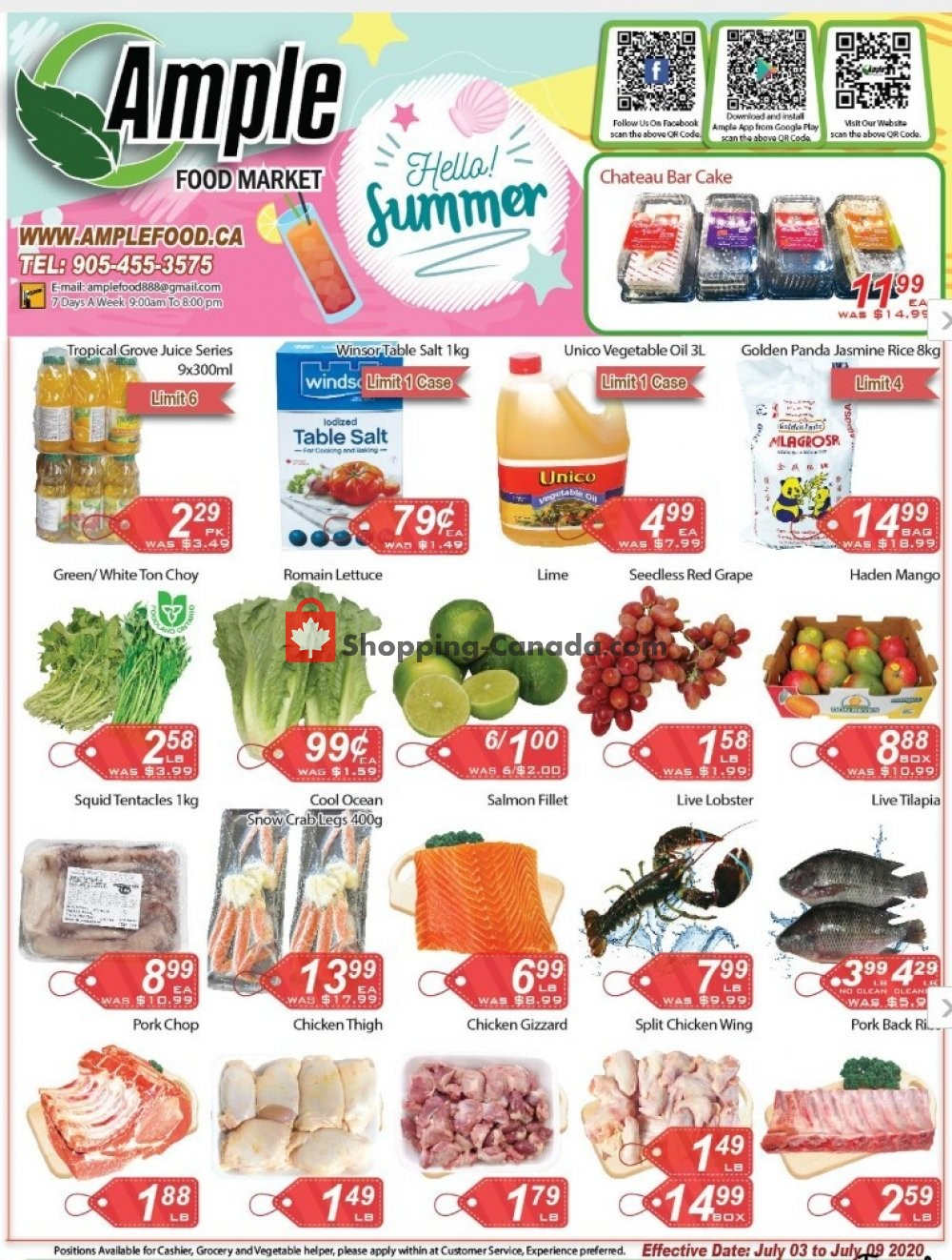 Flyer Ample Food Market Canada - from Friday July 3, 2020 to Thursday July 9, 2020