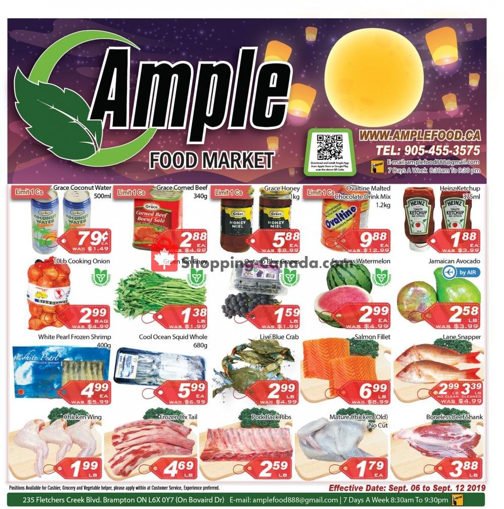 Flyer Ample Food Market Canada - from Friday September 6, 2019 to Thursday September 12, 2019