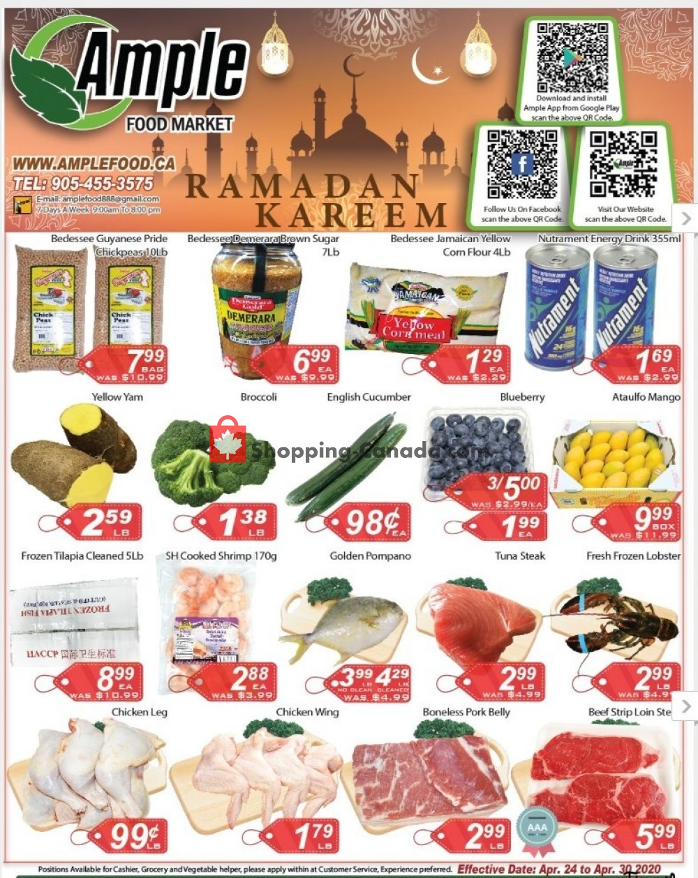 Flyer Ample Food Market Canada - from Friday April 24, 2020 to Thursday April 30, 2020