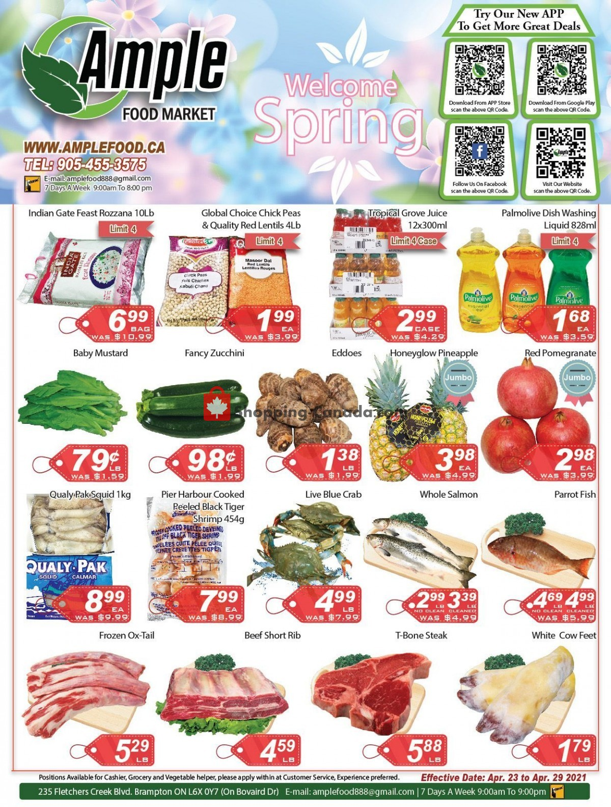 Flyer Ample Food Market Canada - from Friday April 23, 2021 to Thursday April 29, 2021