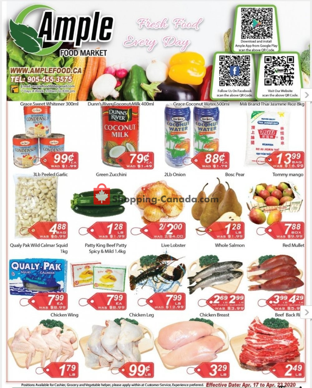 Flyer Ample Food Market Canada - from Friday April 17, 2020 to Thursday April 23, 2020