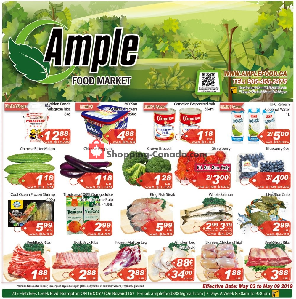 Flyer Ample Food Market Canada - from Friday May 3, 2019 to Thursday May 9, 2019