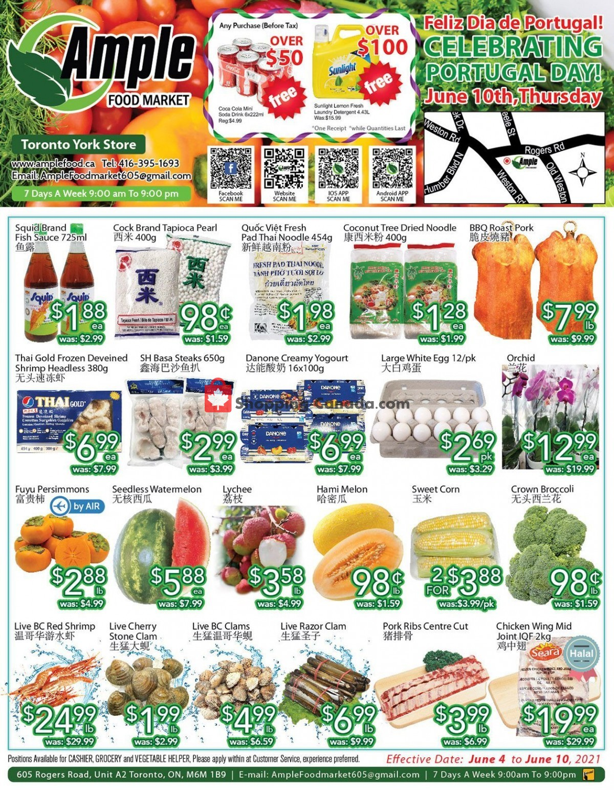 Flyer Ample Food Market Canada - from Friday June 4, 2021 to Thursday June 10, 2021