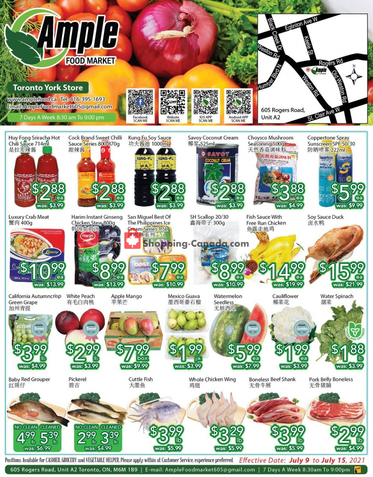 Flyer Ample Food Market Canada - from Friday July 9, 2021 to Thursday July 15, 2021
