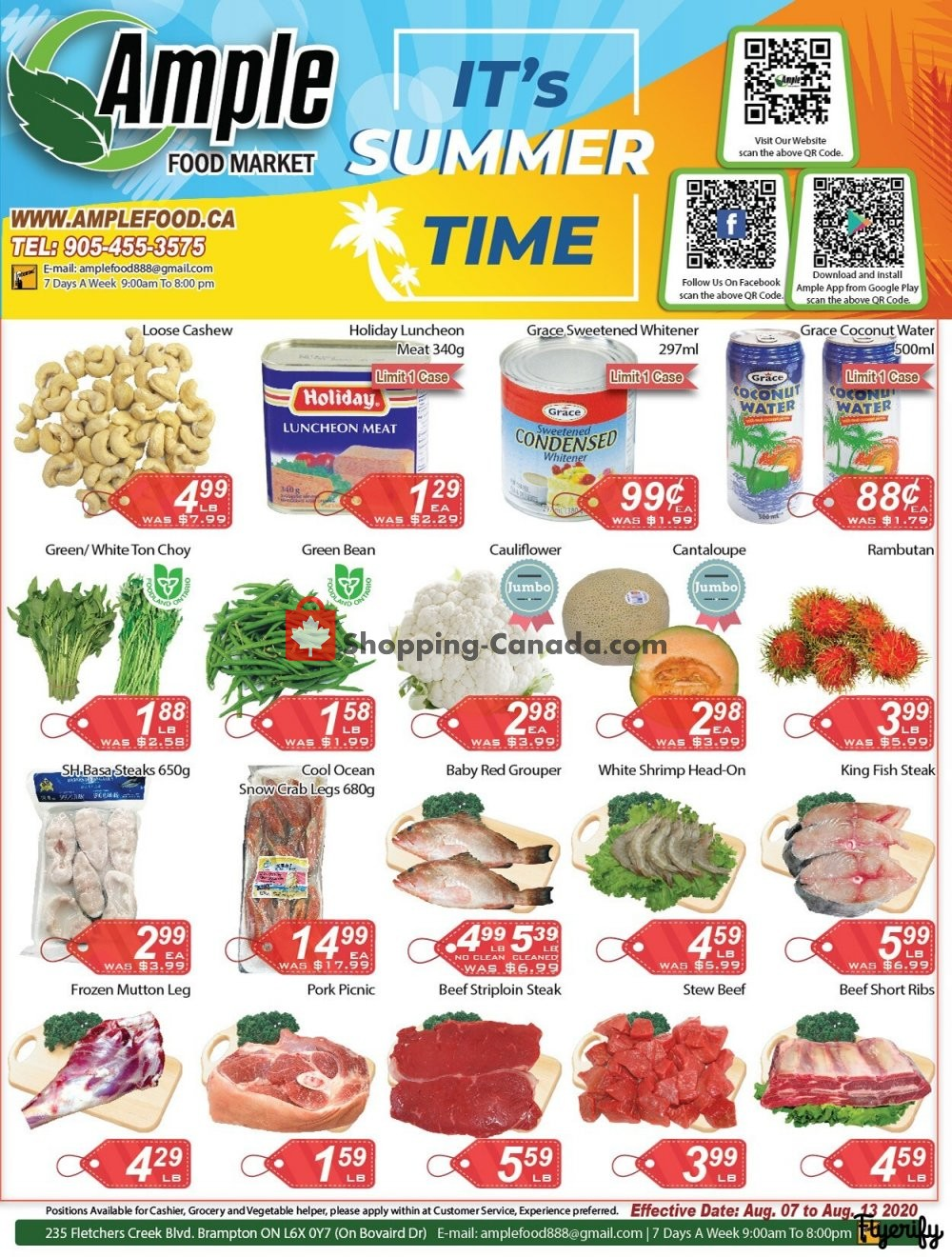 Flyer Ample Food Market Canada - from Friday August 7, 2020 to Thursday August 13, 2020