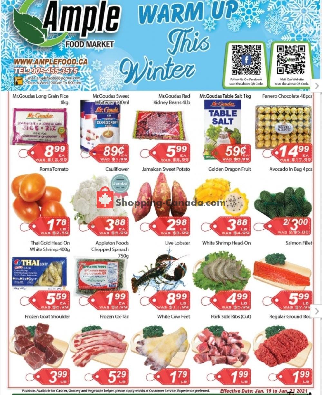 Flyer Ample Food Market Canada - from Friday January 15, 2021 to Thursday January 21, 2021