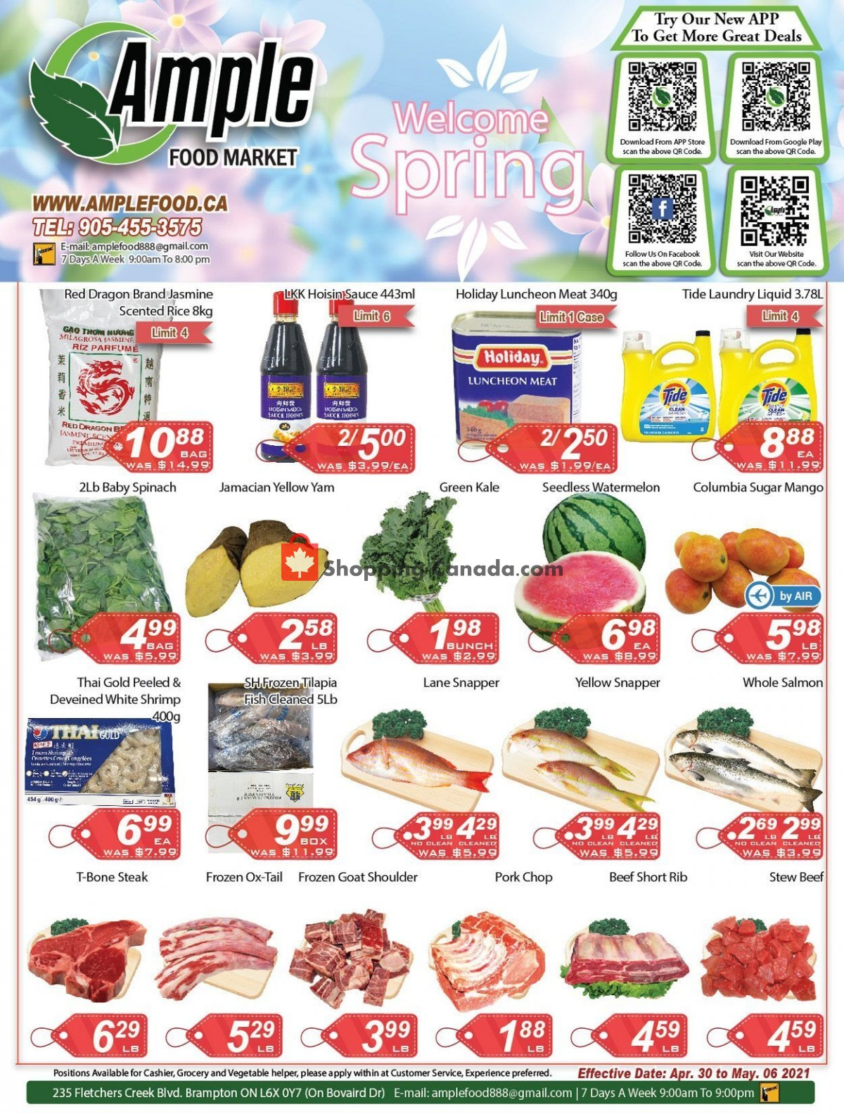 Flyer Ample Food Market Canada - from Friday April 30, 2021 to Thursday May 6, 2021