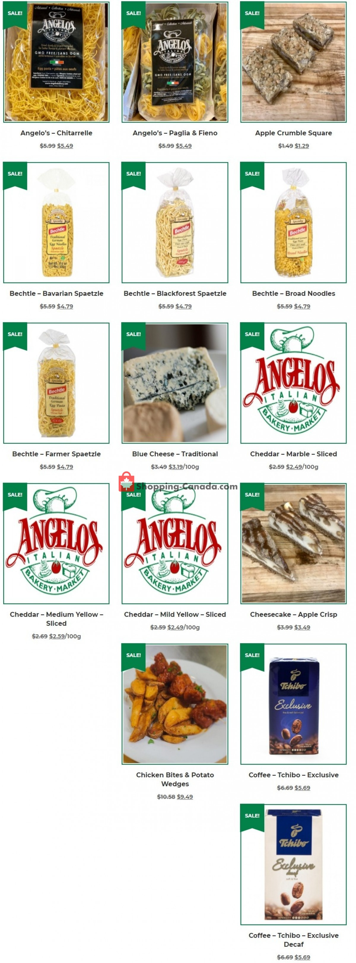 Flyer Angelos Italian Bakery & Market Canada - from Wednesday September 1, 2021 to Thursday September 30, 2021