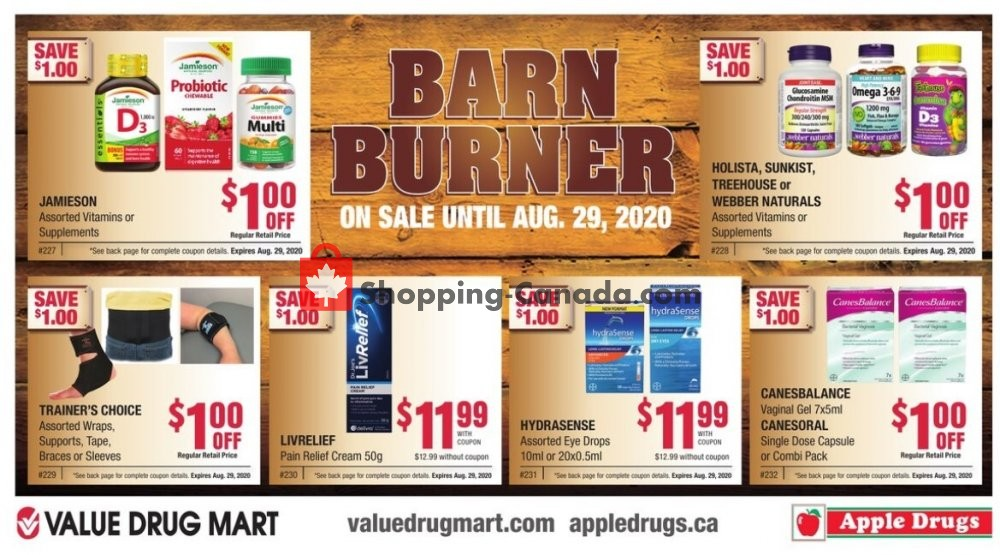 Flyer Apple Drugs Canada - from Sunday August 2, 2020 to Saturday August 29, 2020