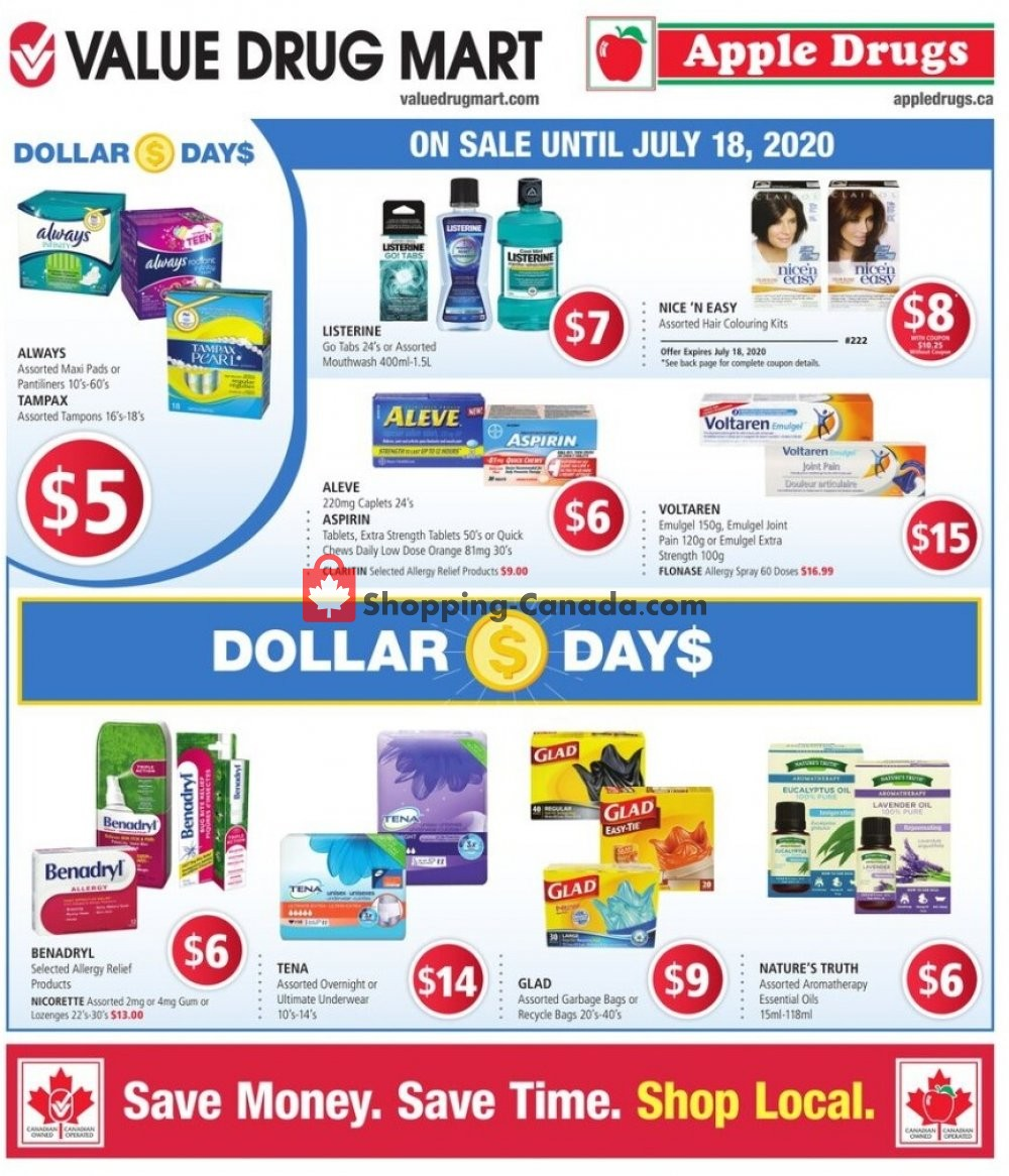 Flyer Apple Drugs Canada - from Sunday July 5, 2020 to Saturday July 18, 2020