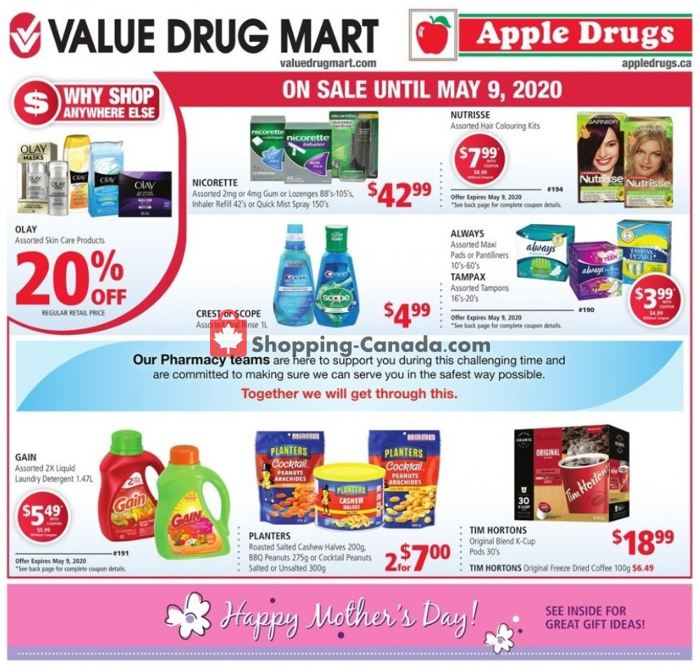 Flyer Apple Drugs Canada - from Sunday April 26, 2020 to Saturday May 9, 2020