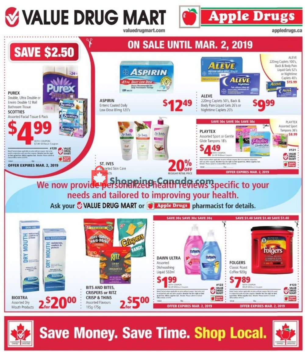 Flyer Apple Drugs Canada - from Sunday February 17, 2019 to Saturday March 2, 2019