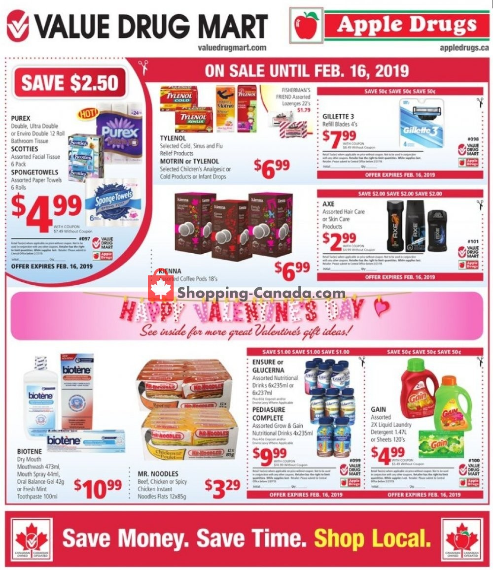 Flyer Apple Drugs Canada - from Sunday February 3, 2019 to Saturday February 16, 2019