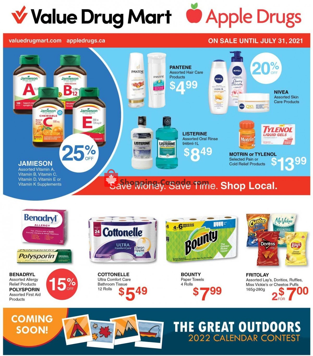 Flyer Apple Drugs Canada - from Sunday July 18, 2021 to Saturday July 31, 2021