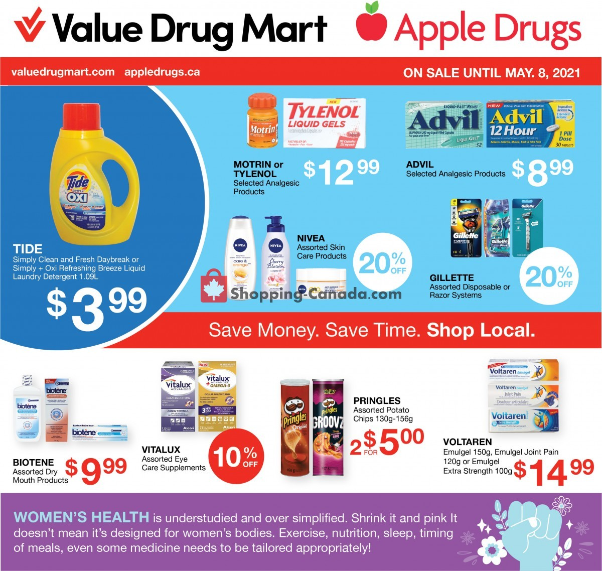 Flyer Apple Drugs Canada - from Sunday April 25, 2021 to Saturday May 8, 2021