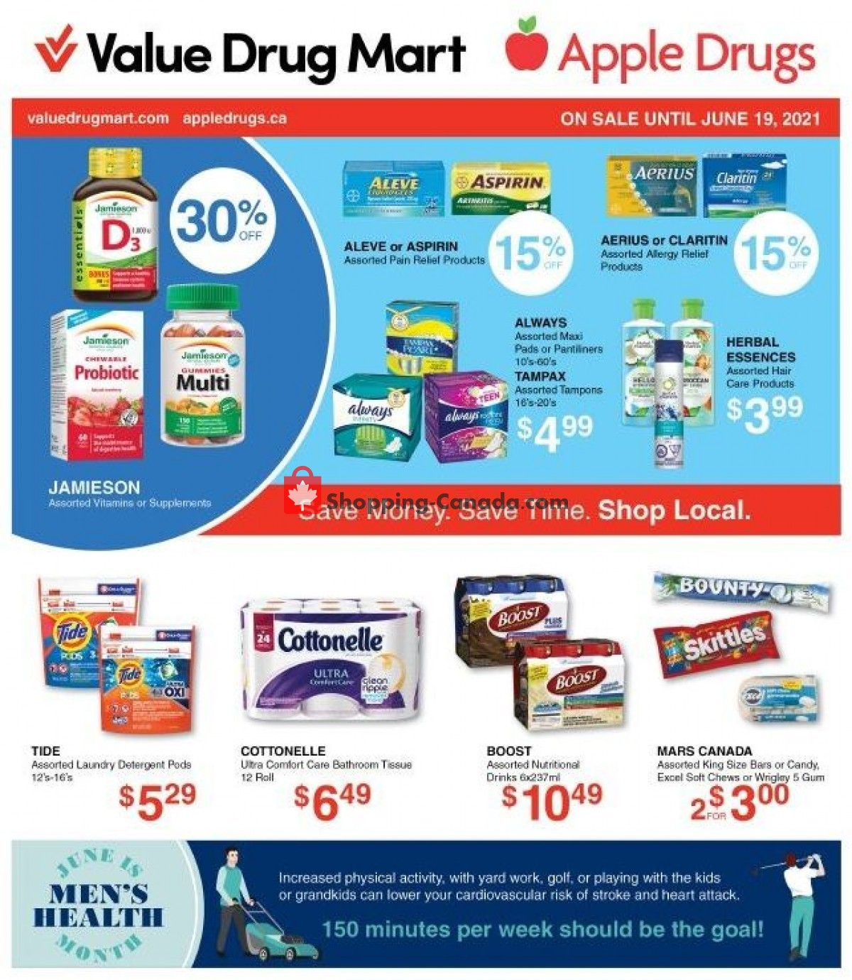 Flyer Apple Drugs Canada - from Sunday June 6, 2021 to Saturday June 19, 2021