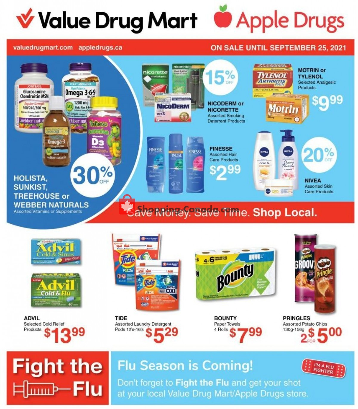 Flyer Apple Drugs Canada - from Sunday September 12, 2021 to Saturday September 25, 2021