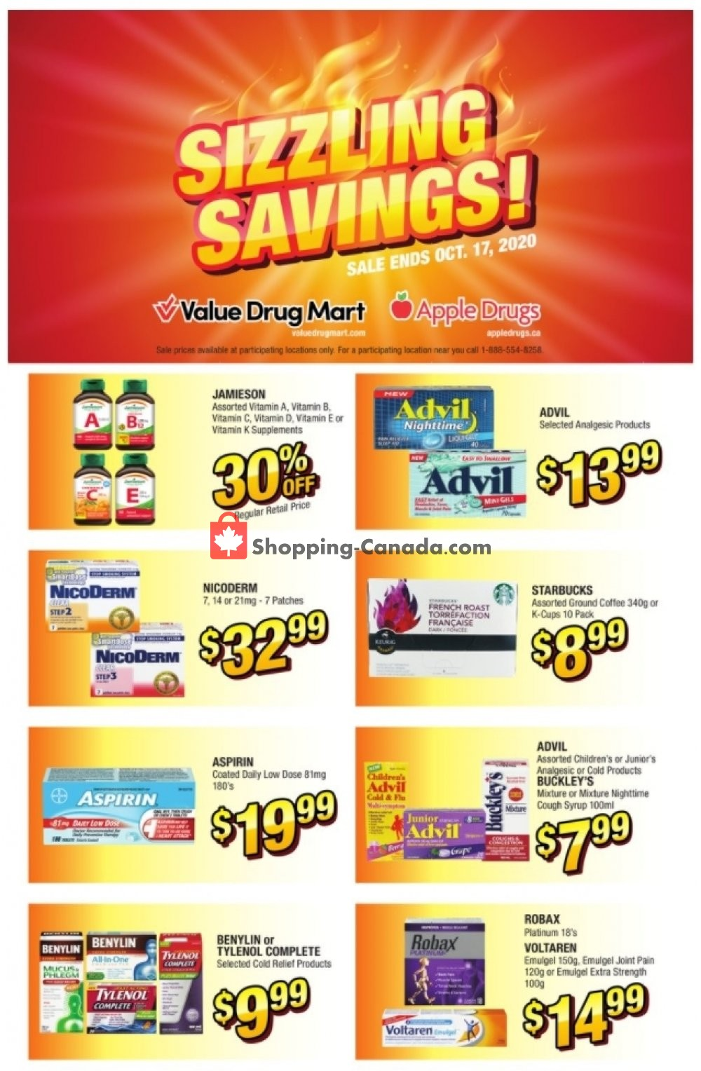 Flyer Apple Drugs Canada - from Sunday October 11, 2020 to Saturday October 17, 2020