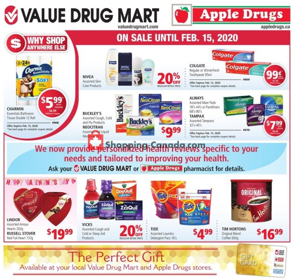 Flyer Apple Drugs Canada - from Sunday February 2, 2020 to Saturday February 15, 2020