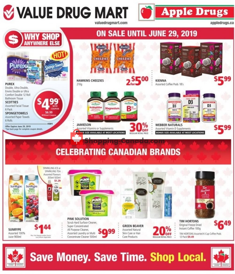 Flyer Apple Drugs Canada - from Sunday June 16, 2019 to Saturday June 29, 2019