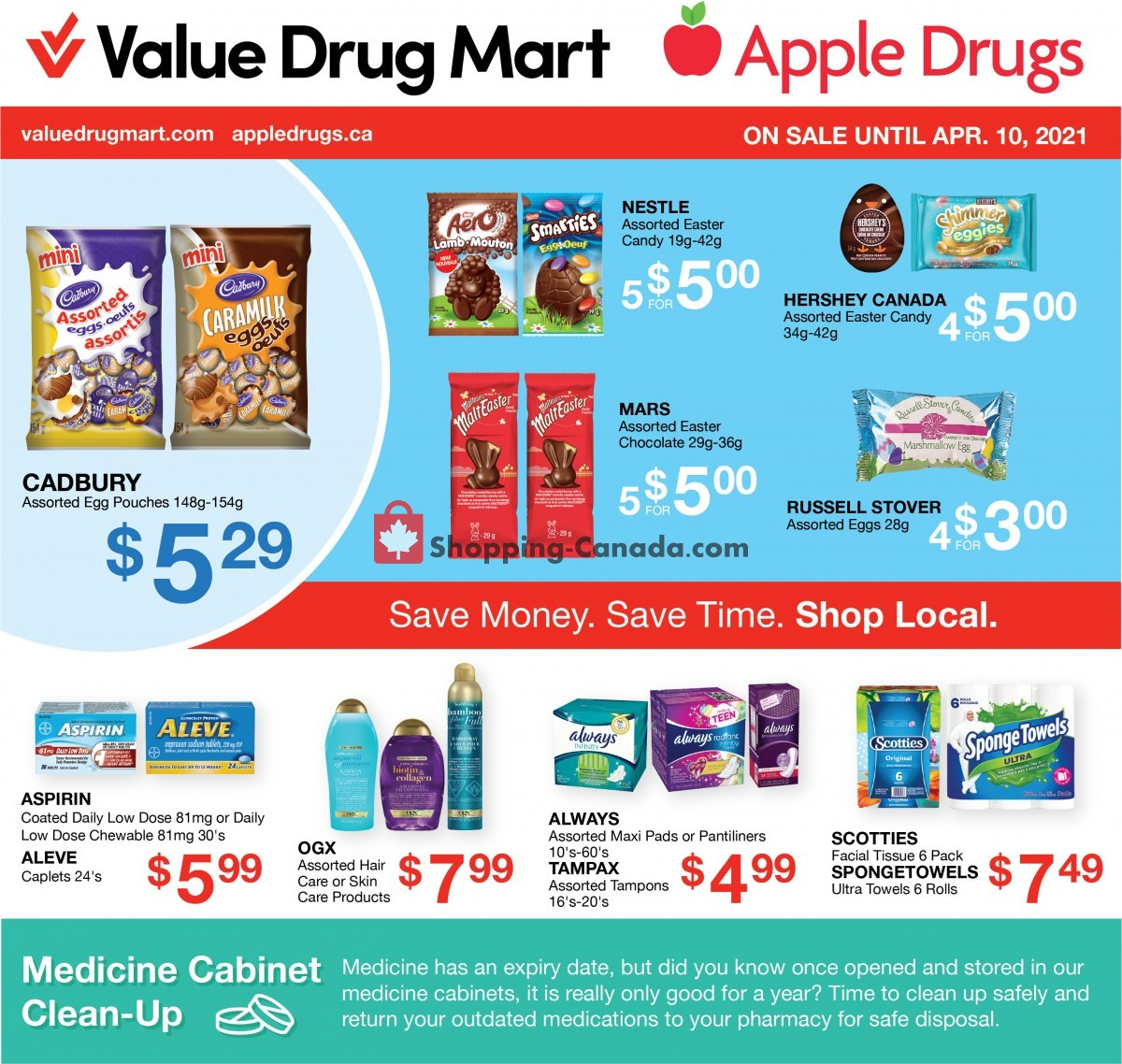 Flyer Apple Drugs Canada - from Sunday March 28, 2021 to Saturday April 10, 2021