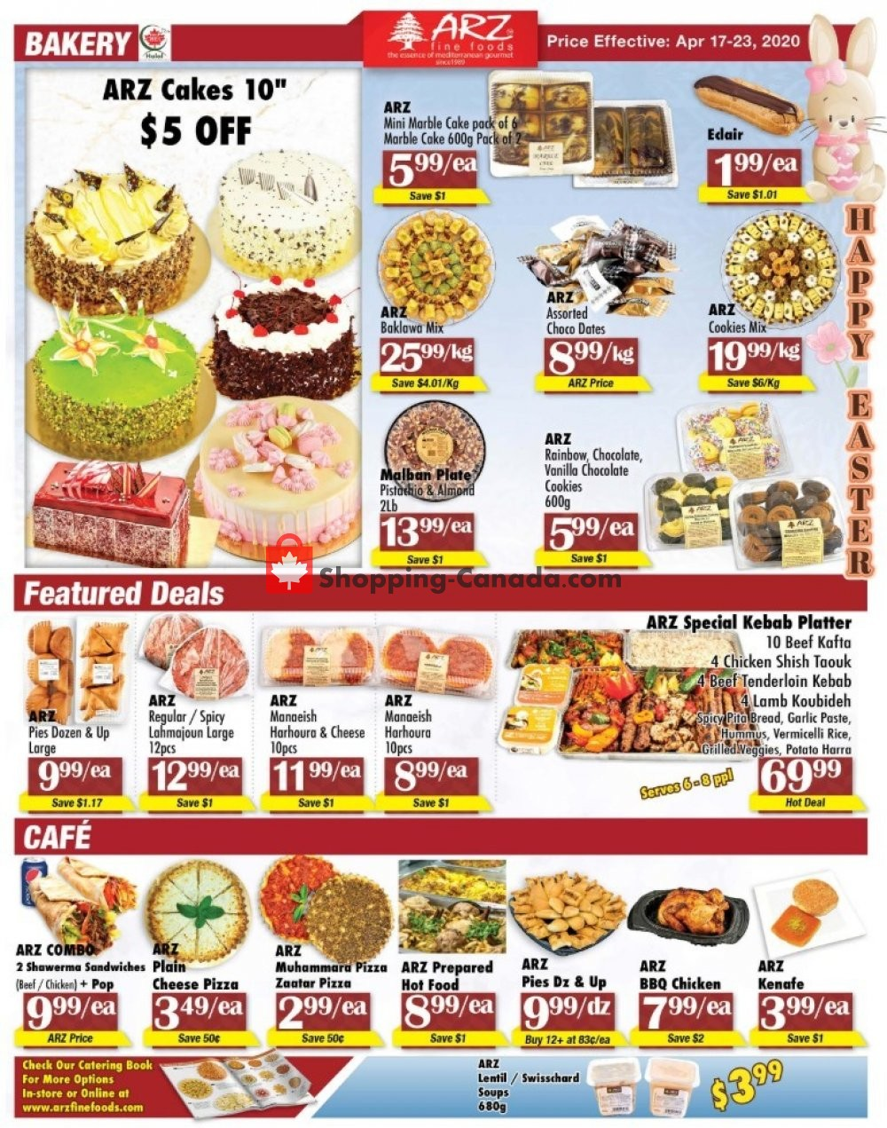 Flyer Arz Fine Foods Canada - from Friday April 17, 2020 to Thursday April 23, 2020